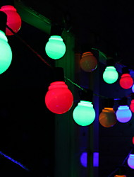Недорогие -6,8 млн Гирлянды 30 светодиоды Разные цвета Работает от солнечной энергии / Декоративная Солнечная энергия 1 комплект