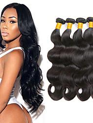 cheap -4 Bundles Brazilian Hair Body Wave 100% Remy Hair Weave Bundles 200 g Natural Color Hair Weaves / Hair Bulk Extension Bundle Hair 8-28inch Natural Color Human Hair Weaves Safety Smooth Fashion Human