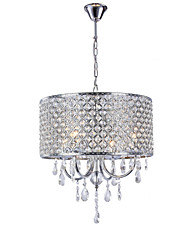 "cheap -Lightinthebox 4-Light 40(16"") Crystal Chandelier Metal Drum Electroplated Modern Contemporary 110-120V / 220-240V"