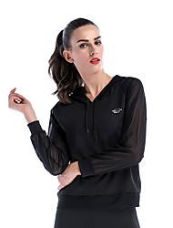 cheap -Women's See Through Hoodie & Sweatshirt Pullover Running Fitness Lightweight Windproof Quick Dry Sportswear Hoodie Long Sleeve Activewear High Elasticity