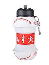 Недорогие -Бутылка для воды Складная бутылка для воды Силиконовые Портативные Складной для Отдых и Туризм Охота Рыбалка Красный / Белый