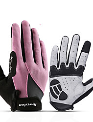cheap -Winter Bike Gloves / Cycling Gloves Mountain Bike Gloves Mountain Bike MTB Breathable Anti-Slip Sweat-wicking Protective Full Finger Gloves Sports Gloves Black Violet Blue for Adults' Outdoor