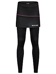 cheap -WOSAWE Women's Cycling Tights Bike Tights Pants Bottoms UV Resistant 3D Pad Sports Solid Color Polyester Spandex Black Clothing Apparel Bike Wear