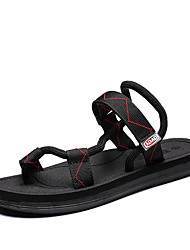 cheap -Men's Comfort Shoes PU Summer / Spring & Summer Casual Sandals Breathable Black / Blue / Brown