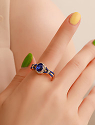 cheap -Women's Ring Crystal 1pc Gold Alloy Classic Vintage European Party Gift Jewelry Classic Cool