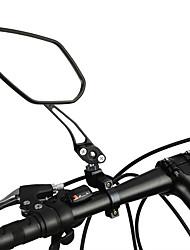 Недорогие -Зеркало заднего вида Рулевое зеркало на велосипед Регулируется Прочный Широкий угол заднего обзора Велоспорт мотоцикл Велоспорт Aluminum Alloy ПВХ Черный