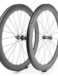 cheap -FARSPORTS 700CC Wheelsets Cycling 25 mm Road Bike Carbon Fiber Clincher 20/24 Spokes 60 mm
