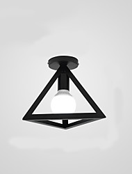cheap -1-Light 25 cm Pendant Light Metal Cone / Geometrical Painted Finishes Country / Modern 110-120V / 220-240V