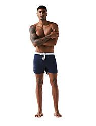 abordables -Homme Sportif Basique Rouge Marine Gris Jambe de garçon Bas Maillots de Bain - Couleur Pleine Bloc de Couleur L XL XXL Rouge
