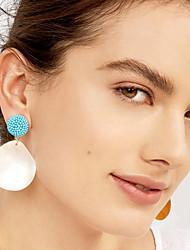 cheap -Women's Multicolor Drop Earrings Pear Cut Drop Pineapple Petal European Shell Earrings Jewelry Gold / Red / Blue For Daily 1 Pair