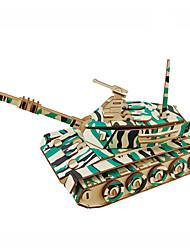 abordables -Puzzles en bois Jeux de Logique & Casse-tête Tank Fait à la main Interaction parent-enfant En bois 1 pcs Enfant Adulte Tous Jouet Cadeau