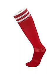 Недорогие -Компрессионные носки Спортивные носки Носки для бега Муж. Носки Длинные носки Воздухопроницаемость Впитывает пот и влагу Non Slip Бег Футбол Виды спорта Зима Хлопок Красный / Эластичная