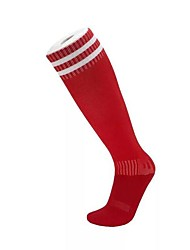 cheap -Compression Socks Athletic Sports Socks Running Socks Men's Tube Socks Long Socks Breathability Sweat-Wicking Non Slip Running Football / Soccer Sports Winter Cotton Red / Stretchy