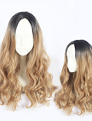 cheap -Cosplay Cosplay Cosplay Wigs All 24 inch Heat Resistant Fiber Coffee Anime