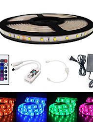 cheap -BRELONG Smart WIFI SMD 2835 9mm Light With RGB 24Keys 5M 300LED IP65 Not Waterproof DC12V With 5A US Power