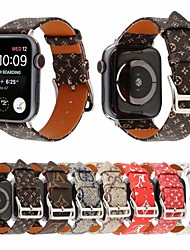 abordables -Watch Band for Apple Watch Series 5/4/3/2/1 Apple Classic Buckle Genuine Leather Wrist Strap