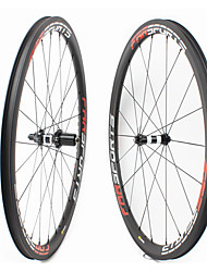 cheap -FARSPORTS 700CC Wheelsets Cycling 23 mm Road Bike Carbon Fiber Clincher / Tubeless Compatible 20/24 Spokes 38 mm