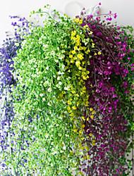 abordables -12pcs fleur vigne 72pcs feuille 1 pièce 2 m décoration de la maison artificielle lierre feuille guirlande plante vigne faux feuille fleur reptile vert lierre guirlande