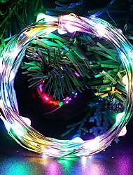 cheap -5m String Lights 50 LEDs 1 set Multi Color Decorative AA Batteries Powered