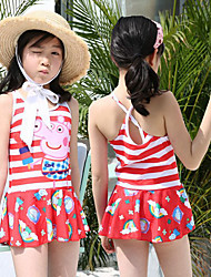cheap -Girls' Swim Dress Spandex Swimwear UV Sun Protection Quick Dry Sleeveless Swimming Patchwork Spring Summer / High Elasticity / Kid's