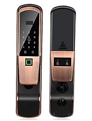 cheap -RX0833 Aluminium alloy Password lock / lock / Fingerprint Lock Smart Home Security System Fingerprint unlocking / Password unlocking / APP unlocking Home / Office Security Door (Unlocking Mode