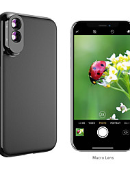 cheap -Mobile Phone Lens Macro Lens Glasses / ABS+PC 10X Macro 10 mm 0.01 m 80 ° Lens with Case