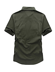 cheap -Men's Plus Size Shirt - Solid Colored Army Green