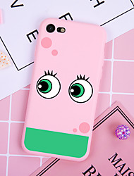 cheap -Case For iPhone XS Max XR XS X Back Case Soft Cover TPU Fashion simple style two big green eyes Soft TPU for  iPhone5 5s SE 6 6P 6SP 7 7P 8 8P