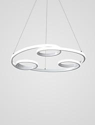 cheap -1-Light 40 cm Creative / LED Chandelier Metal Circle Painted Finishes LED / Modern 110-120V / 220-240V