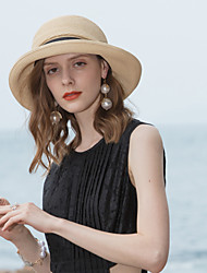 cheap -Polyester Straw Hats with Lace-up / Metal 1pc Casual / Daily Wear Headpiece