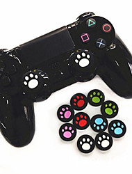 cheap -4-piece Game Controller Thumb Stick Grips Joystick Cover Silicone Material Cartoon Cat Claw Joystick Cover