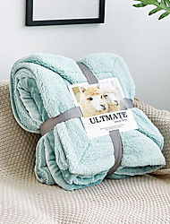Недорогие -Одеяла, Однотонный Трикотаж / Шерстяная ткань Обогреватель удобный Очень мягкий одеяла