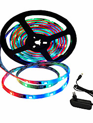 cheap -5m Flexible LED Light Strips 150 LEDs SMD5050 10mm 1 x 2A power adapter Color-changing Decorative / Self-adhesive / Color Gradient 12 V / 110-240 V 1 set
