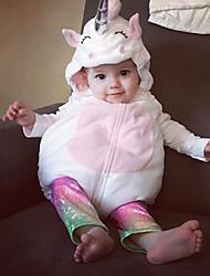 abordables -bébé Fille Actif Mosaïque Sans Manches Coton Le maillot de corps Blanc