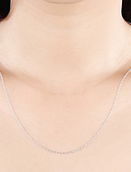 cheap -Men's Women's Chain Necklace Classic Simple Classic Basic Fashion Copper Silver Plated Silver 46,51,56 cm Necklace Jewelry 1pc For Daily Work