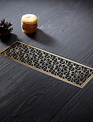cheap -Antique Style Drain Creative Classic Solid Brass Anti-odor Easy to Clean 300mm