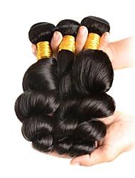 Недорогие -3 Связки Бразильские волосы Свободные волны 100% Remy Hair Weave Bundles 150 g Человека ткет Волосы Пучок волос Накладки из натуральных волос 8-28 inch Естественный цвет Ткет человеческих волос