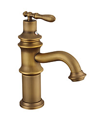 cheap -Bathroom Sink Faucet - Widespread Antique Copper Centerset Single Handle One HoleBath Taps