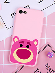 cheap -Case For iPhone XS Max XR XS X Back Case Soft Cover TPU Fashion simple style rose red bear Soft TPU for iPhone5 5s SE 6 6P 6SP 7 7P 8 8P