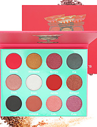 cheap -12 Colors Eyeshadow Eyeshadow Palette Eye Cosmetic EyeShadow Waterproof Matte Lighting Fashionable Design Gift Shimmer Glitter Shine Breathable Breathable Coloured gloss Long Lasting Daily Makeup