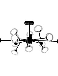 cheap -12 Bulbs ZHISHU 110 cm WIFI Control Chandelier Metal Glass Sputnik Industrial Painted Finishes Contemporary Chic & Modern 110-120V 220-240V
