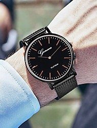 cheap -Men's Dress Watch Quartz Silicone Black / Silver / Rose Gold 30 m Water Resistant / Waterproof Casual Watch Cool Analog Casual Fashion - Black Silver Rose Gold One Year Battery Life