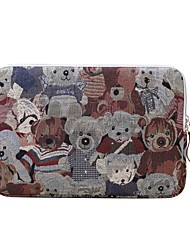 cheap -Laptop Sleeve Polyester Cotton Blend Bear Business Office Unisex Shock Proof for Surface/Macbook/HP/Dell/Samsung/Sony Etc