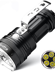 Недорогие -Supfire L1 Походные светильники и лампы Аварийные лампы Водонепроницаемый Светодиодная лампа Cree® XM-L2 U2 излучатели 5 8.0 Режим освещения с батарейками и зарядным устройством / Алюминиевый сплав