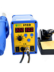 cheap -BST-898D Lead-Free Spiral Heat Gun 2 In 1 Can Adjusted Dual Display Desoldering Station Soldering Iron For PCB SMT SMD Rework