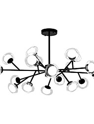 cheap -18 Bulbs ZHISHU 110 cm WIFI Control Chandelier Metal Glass Sputnik Industrial Painted Finishes Contemporary Chic & Modern 110-120V 220-240V