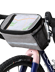 cheap -ROSWHEEL 4.8 L Cell Phone Bag Bike Handlebar Bag Touch Screen Multi layer Reflective Strips Bike Bag Cloth 300D Polyester Bicycle Bag Cycle Bag Samsung Galaxy S6 / Samsung Galaxy S6 edge / LG G3 Road