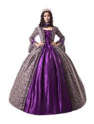 cheap -Princess Maria Antonietta Victorian Renaissance Dress Party Costume Masquerade Women's Lace Costume Purple Vintage Cosplay Christmas Halloween Party / Evening 3/4 Length Sleeve Floor Length Ball Gown