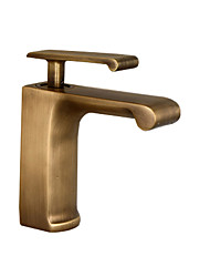 cheap -Bathroom Sink Faucet - Widespread Brushed / Antique Copper / Black Other Single Handle One HoleBath Taps