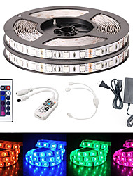 cheap -10M Smart WIFI LED Light Strips RGB Tiktok Lights SMD 5050 10mm Light 24Keys 600LED IP65 Not Waterproof DC12V With 5A US Power